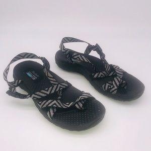 Skechers Reggae Outdoor Sandals Black & Gray SZ 9